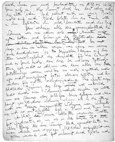 Bl. 41v von »Die Verwandlung«. Vorletzte Seite des Manuskripts